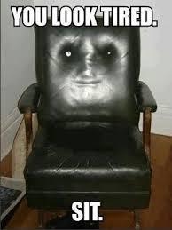 Meme Chair - my friends chair is creepy meme guy