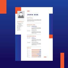 graphic designer resume graphic designer resume vector free vector stock