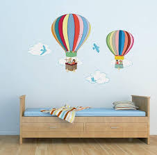Bedroom Wall Letter Stickers Childrens Bedroom Wall Stickers Removable Air Balloons By