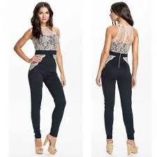 top jumpsuit 2 color jumpsuit vestido de festa lace patchwork playsuit