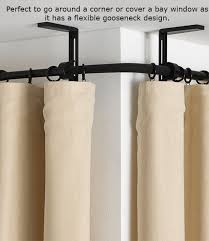 Corner Curtain Bracket Curtains Ideas Corner Curtain Rod Bracket Inspiring Pictures