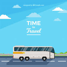 bus travel images Flat design bus travel background vector free download jpg