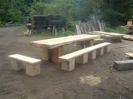 tables made from logs timber frame picnic table in timber framing log construction
