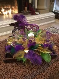 mardi gras deco mesh mardi gras centerpiece mardi gras candle ring deco mesh party