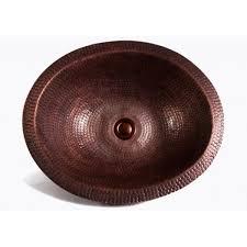 round hammered garden pattern 16 gauge copper undermount drop in