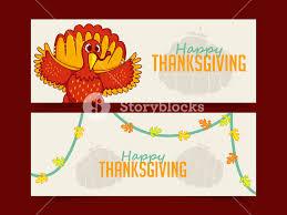 thanksgiving day turkey banner royalty free stock image storyblocks