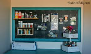craft room pegboard organization addicted 2 diy