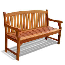 shop vifah 25 in w x 60 in l eucalyptus patio bench at