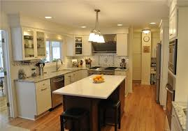 pictures of small kitchen islands chic small galley kitchen with island with white wooden kitchen