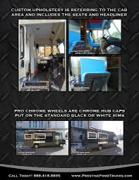recommended extras presentation prestige custom food truck