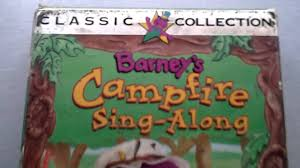 barney video barney u0027s camp fire sing a long lyons edition vhs