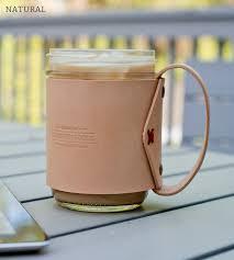 leather handle mason jar mug home food u0026 drink go forth goods