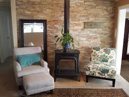 living room feature wall small home soul
