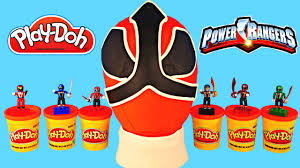 huge power rangers play doh surprise egg minecraft lego spongebob