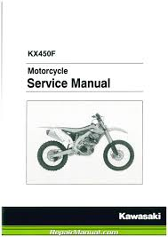 kawasaki kx450f 2012 2013 2014 2015 motorcycle service manual