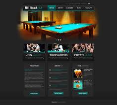stylish billiard club wordpress theme 46269
