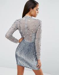embellished dress asos asos high neck embellished mini dress