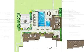 backyard plan has seating for 90 people pool with infinity edge