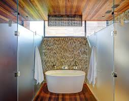 interesting bathroom inside sams creek residence near clear tub