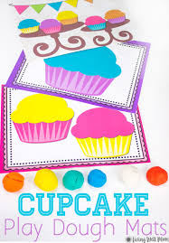 free printable shape playdough mats cupcake playdough mats free printable activity for kids