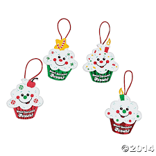 religious happy birthday jesus cupcake ornament craft kit 12 pk