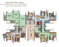 typical floor plan gurukrupa group marina enclave