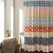 lush decor 16t000209 bohemian stripe shower curtain