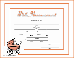 10 free baby announcement templates job resumes word