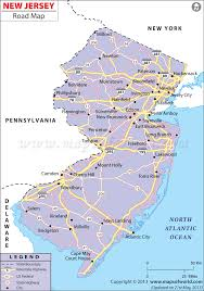 Road Maps Usa by New Jersey Road Map Highways In New Jersey