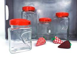 clear plastic kitchen canisters kitchen canister set glass kitchen vintage retro home