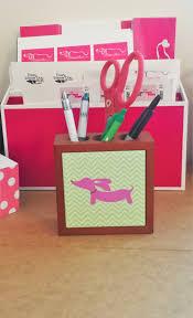 dachshund desk pen holder wiener dogs dog mom and desks