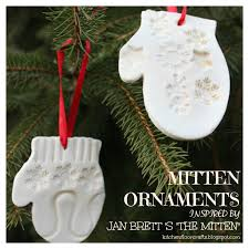 kitchen floor crafts mitten ornaments inspired by jan brett s