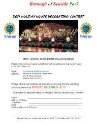 2017 holiday house decorating contest borough of seaside park