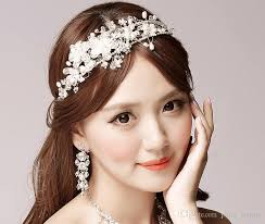 bridal hair accessories uk headdress flower hair band korean handmade pearl wedding
