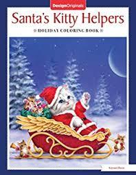 santa u0027s cats christmas coloring book jason hamilton