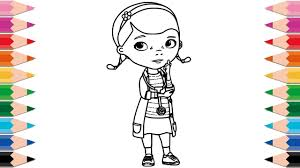 how to draw doc mcstuffins for kids coloring pages disney junior