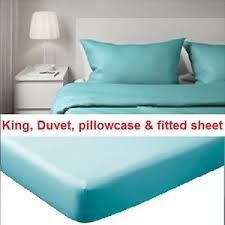 gaspa sheets new ikea gaspa king duvetcover pillowcase fitted sheet turquoise
