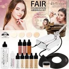 fair 4 clr airbrush makeup set compressor hose found bag