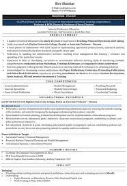 Sample Resume For Mba Finance Freshers by Lecturer Resume Samples Sample Resume For Lecturer Naukri Com