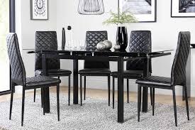 black dining room table set black dining sets furniture choice