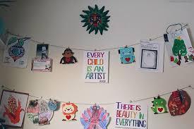 Hanging Art Height Kids Hanging Art Display Wall Arts U0026 Crafts