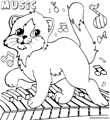 coloring page music glum me