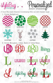 custom personalized acrylic christmas ornaments christmas