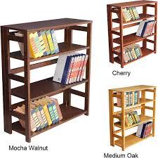 Fold Up Bookcase Folding Bookcase Book Shelves Target Linon Dolce 4 Shelf Folding