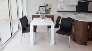 Modern Extending Dining Table - Black and white contemporary dining table