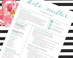 Social Media Resume Sample by Resume Template Cv Template For Word 4 Pack Social Media