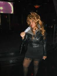 Tina Turner Halloween Costume Tina Turner Homemade Costume Leather Jacket Homemade Mic Pearls