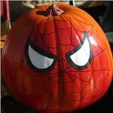 spiderman painted pumpkin u0026 garden decor u0026 crafts