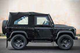 land rover defender matte black land rover defender svx by kahn design hiconsumption