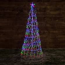 1 8m multi coloured led twinkling spiral tree rope light
